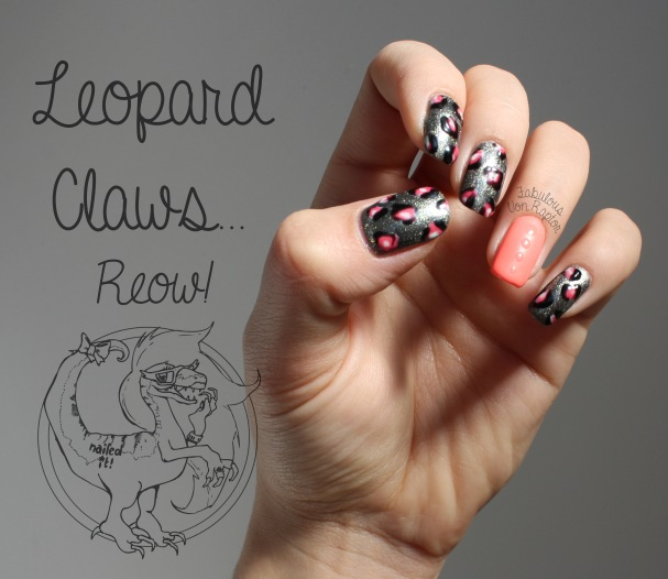 Leopard Claws - Fabulous Von Raptor Manicure (natual light no flash)