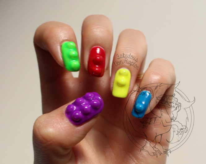 Lego Block - Fabulous Von Raptor Manicure (natural light no flash)