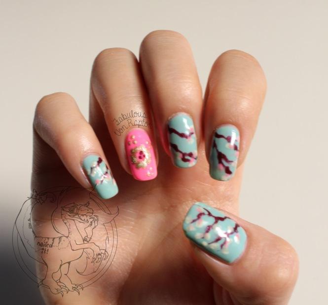 Like a Blossom (Sakura) – Fabulous Von Raptor Manicure (natural light no flash)