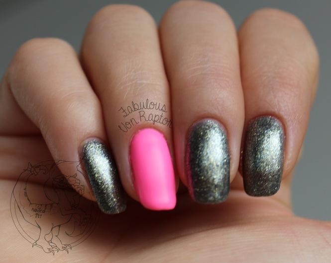 Gunmetal Princess – Fabulous Von Raptor Manicure (natural light no flash)