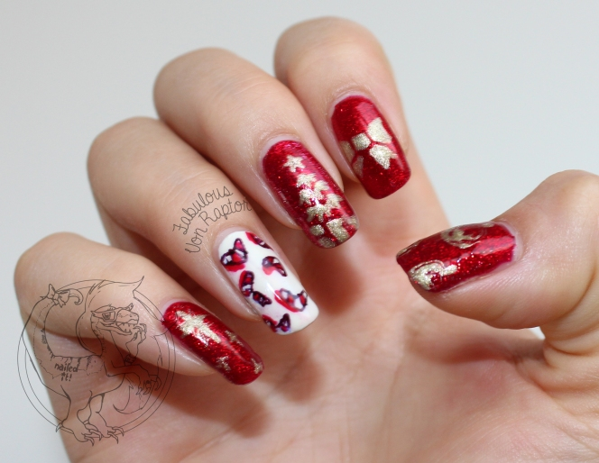 Fabulous Von Raptor - Red and Candy Boomerang Christmas Claws