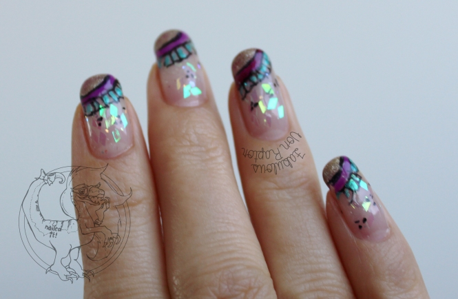 Fabulous Von Raptor - Opal and Frilly French  (dat AB crystal glitter)