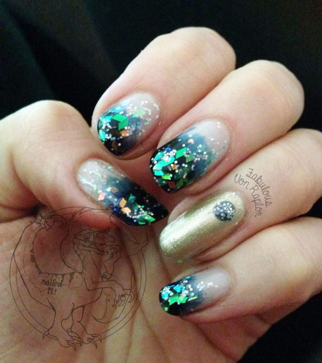 Fabulous Friends #6 Ombre Glitter - Credit to Jeni for the images provided