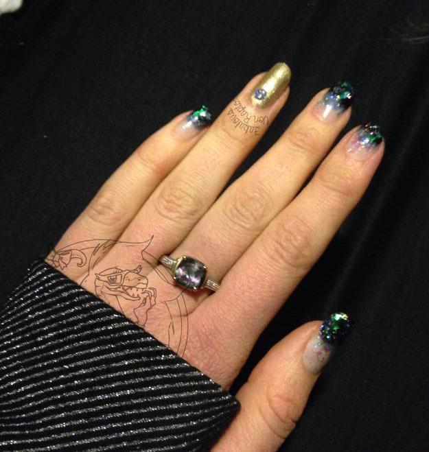 Fabulous Friends #6 Ombre Glitter- Fabulous Von Raptor