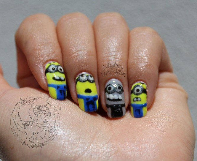Fabulous Von Raptor - Minion Movie Manicure