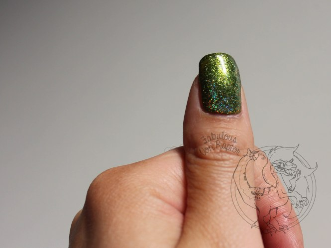 Fabulous Von Raptor - Tribal Lime Holo Gold
