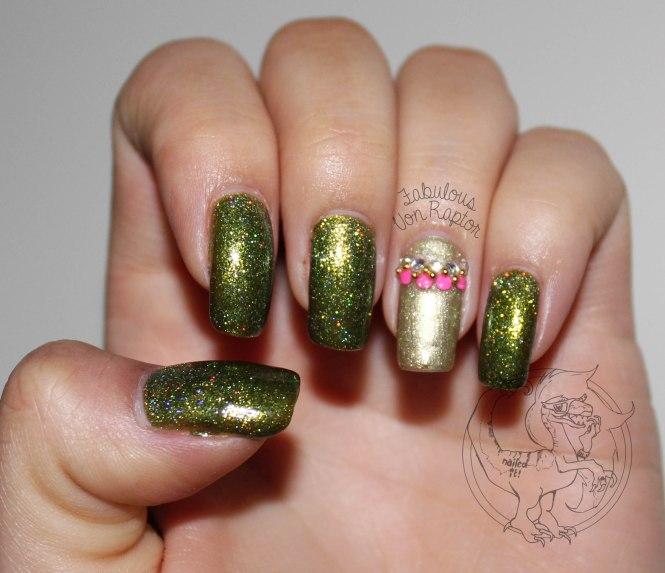 Fabulous Von Raptor - Tribal Lime Holo Gold