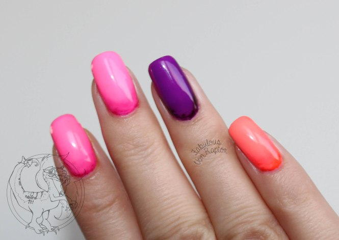 Fabulous Von Raptor - Neon Crayon Ombre
