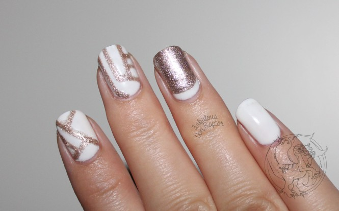 Fabulous Von Raptor - Geometric Rose Gold Glitter